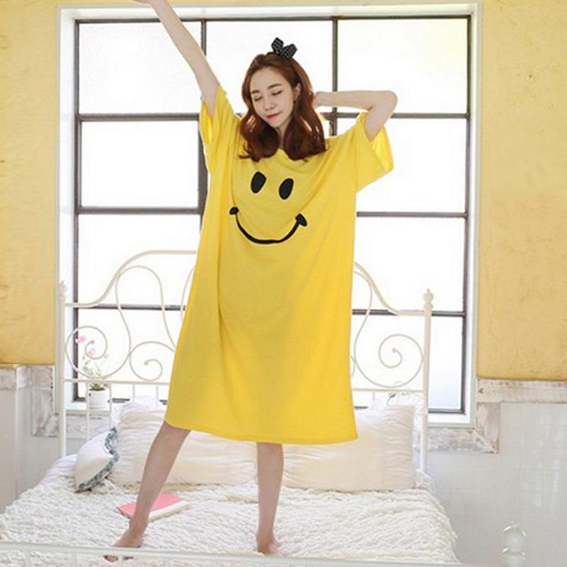 Wholesale Women Nightgowns Sleepshirts 2017 Women Sleepwear Robe Summer  Nightgown Nightdress Casual Home Dress Womens Cotton Nightgown UK 2019 From  Roberr b132286084