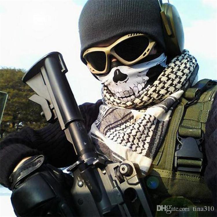 Nuovo 14 stili bicicletta del motociclo sport all'aria aperta Collo Viso Cosplay maschera di teschio Maschera maschere intere capo Hood Protector Bandane partito C012