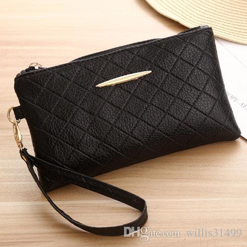 644e4b8a90 Women Purses Wristlet Handbags PU Leather Lady Girls Money Keys Cards Phone  Envelope Tote Bags Zipper Coin Purse New Wallet Bag Cute Wallet Wallets For  ...