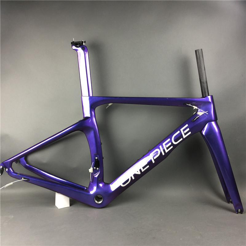 DIY carbon frame ! chameleon paint ! New Design 3K 1K glossy matte surface road bike bicycle carbono frameset fork seatpost headset included