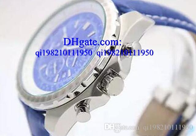 Relógios de luxo caixa Livre Novo Cronógrafo De Quartzo Cronômetro Preto Bezel Cinto de Borracha Mens Carrapatos Trabalhando Relógio dos homens Relógios de Pulso Esportes