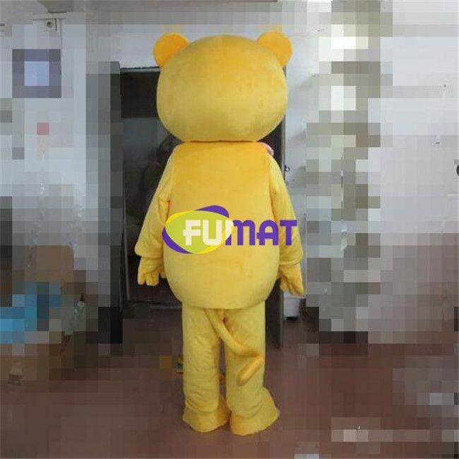 FUMAT Mini Lion Maskottchen Kostüm EVA Erwachsene Größe Gelb Lion Cartoon Kleidung Tier Niedlichen Lion Weihnachten Maskottchen Kleid Bild