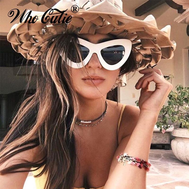 674e86a4799 WHO CUTIE 2017 Big Retro 60s Cat Eye Butterfly Sunglasses Superstar Women  Oversized Cateye Sexy Sun Glasses Vintage Oculos OM308 Prescription  Sunglasses ...
