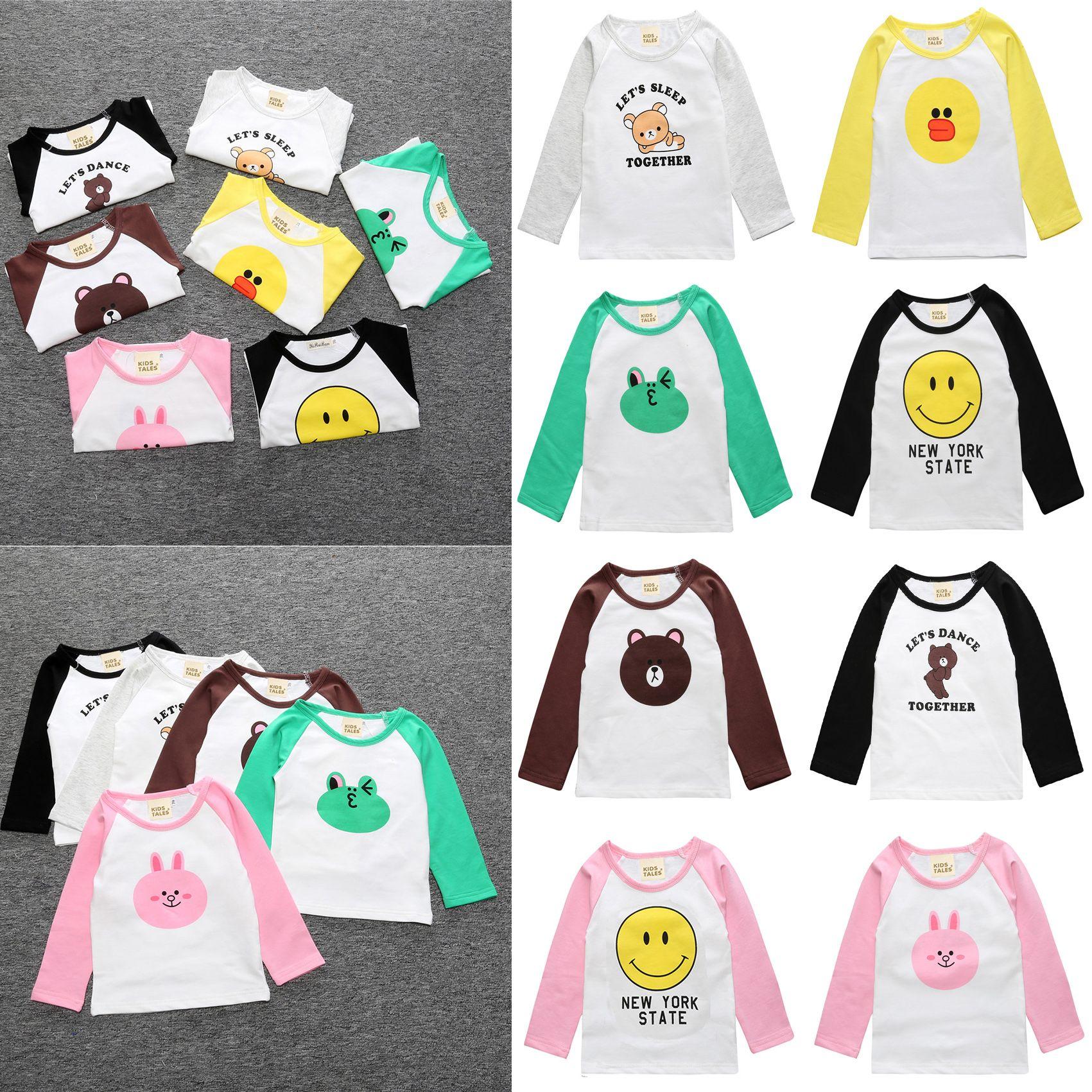 33c1738b8 2019 Kids Cute T Shirt Cotton Cheap Baby Clothes Boy Girl Kids Raglan  Printed Fashion T Shirt Girls Boys Long Sleeve Tops 17072901 From  Smartgrass, ...