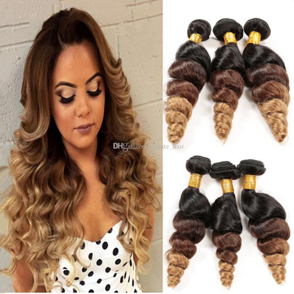 2018 9a Cheap Ombre Hair Extensions Three Tone 1b 4 27 Ombre