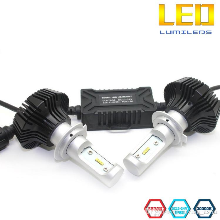 2017 newes 7G Car Headlight Bulbs Kit Use Lumileds chips 8000lm Super Bright h4 h13 9007 h7 h11 9005 9006 80W White 6500K