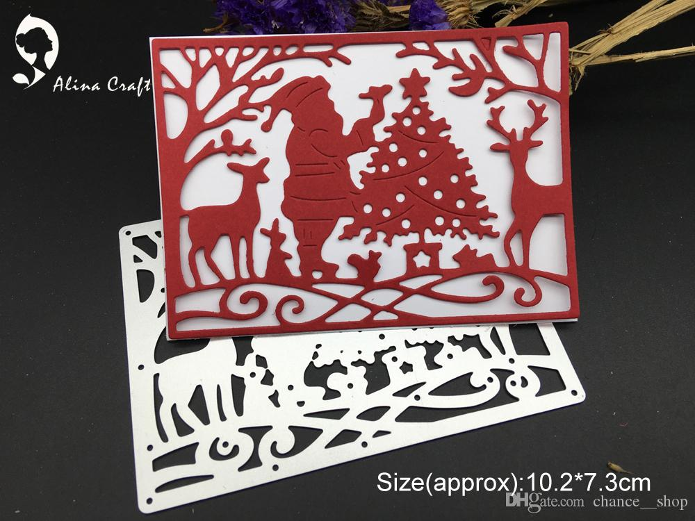 Chance Christmas Album.2019 Merry Christmas Scene Santa Tree Deer Metal Cutting Dies Stencil Diy Scrapbooking Embossing Folder Album Decorative From Chance Shop Price
