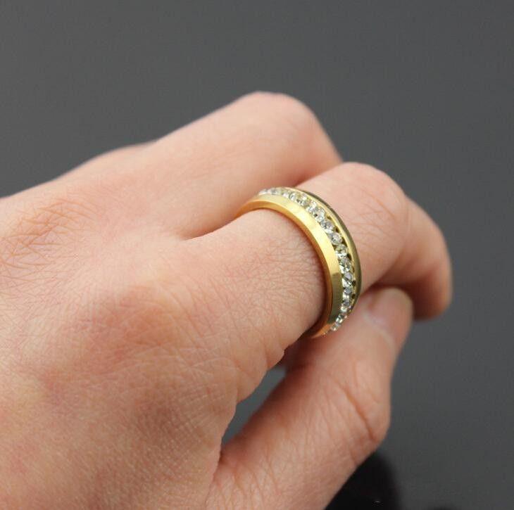 see larger image - Crystal Wedding Rings