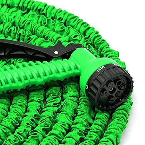 25ft/50ft/75ft/100ft/125ft/150ft Expandable Garden Hose Water Pipe w/ 7-in-1 Spray Gun Nozzle