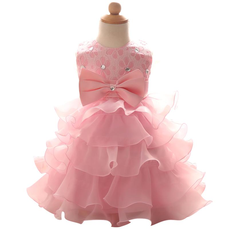 813dc70ce857 Wholesale- Newborn Baby Girl Clothes Lace Flower Girl Baby Christening  Wedding Formal Bridesmaid Pageant Party Dress Infant Tutu Clothing Dresses  Cheap ...
