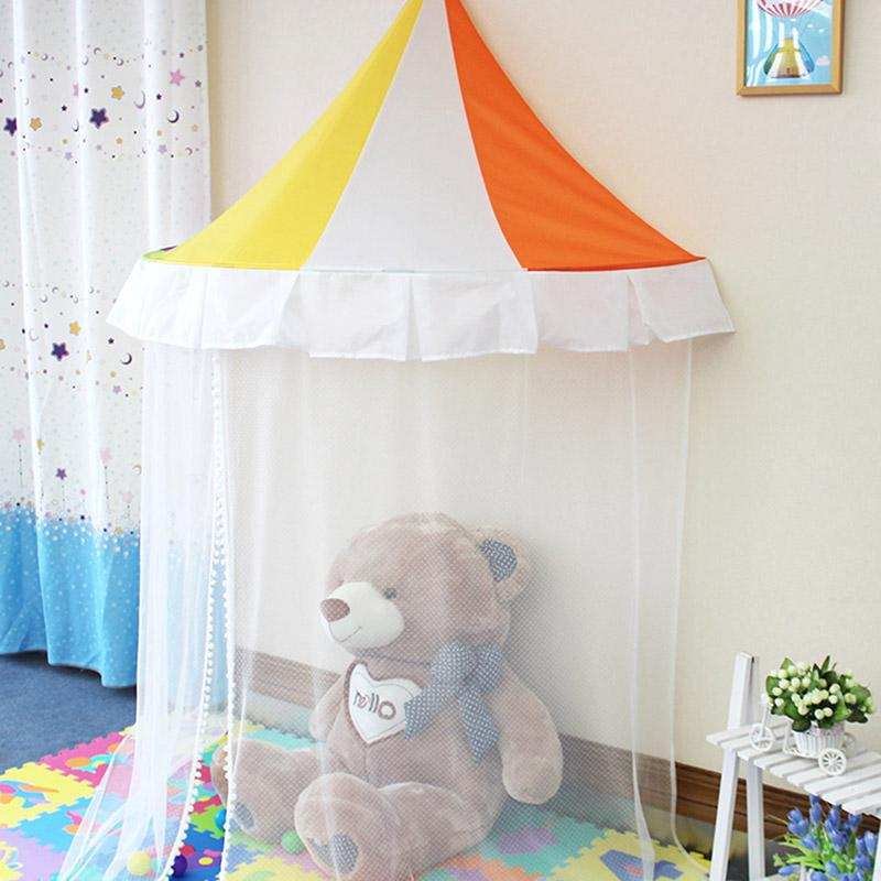 Hot Selling Kids Play Tent Rainbow Pattern Indoor Children Toy Tents  Hanging Dome Play Tent+Yarn Curtain Children Play Tent Kids Teepee Tent  From Sto4, ...