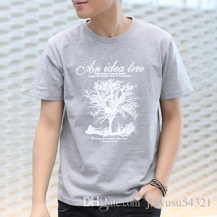 2017 NEW Fashion Active Personalized Print Express Cotton T Shirt Hip Hop Short Sleeve T Shirts Men #356