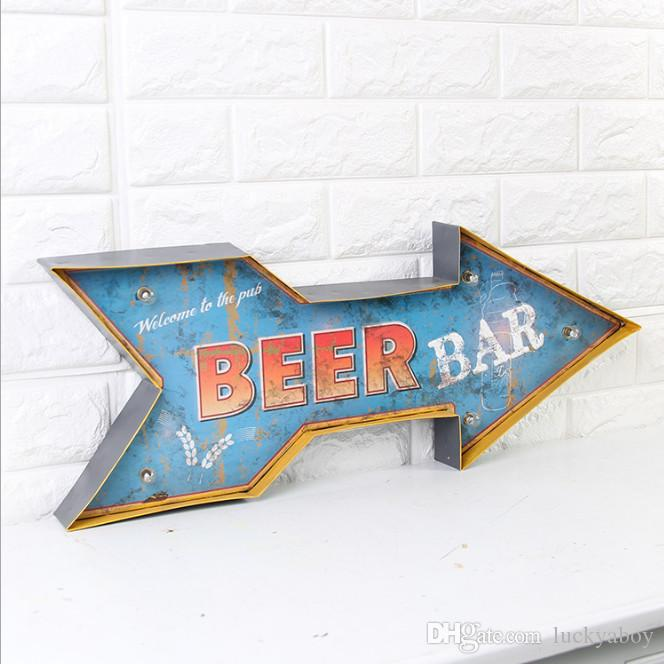2019 Welcome To The Pub Beer Bar Vintage Neon Sign Decorative Painting LED  Metal Signs Bar Cafe Cerveja Shabby Chic Wall Decoration Signboard From  Luckyaboy ...