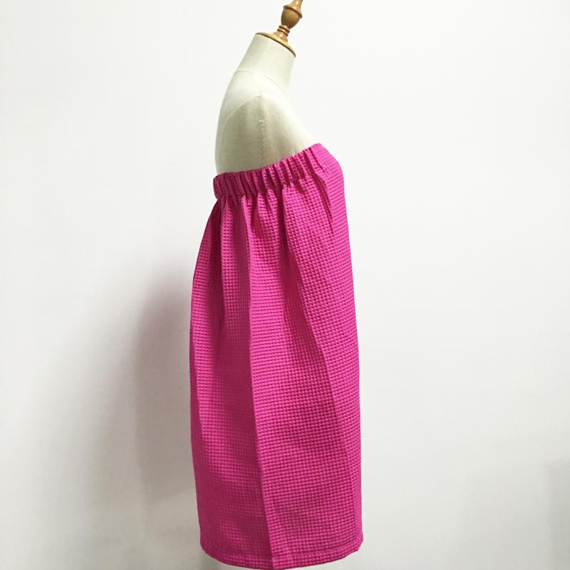 Pink White Waffle Towel Wrap Ladies High Wasit Waffle Skirt Wearable Towel Shower Gift Bridal Party Gift in Two Colors DOM106547