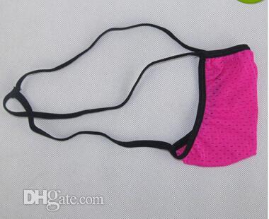 Оптовая продажа-новые прекрасные сексуальные мужские стринги микро нижнее белье Японский стиль небольшой мешок предел охвата ушко нейлон спандекс