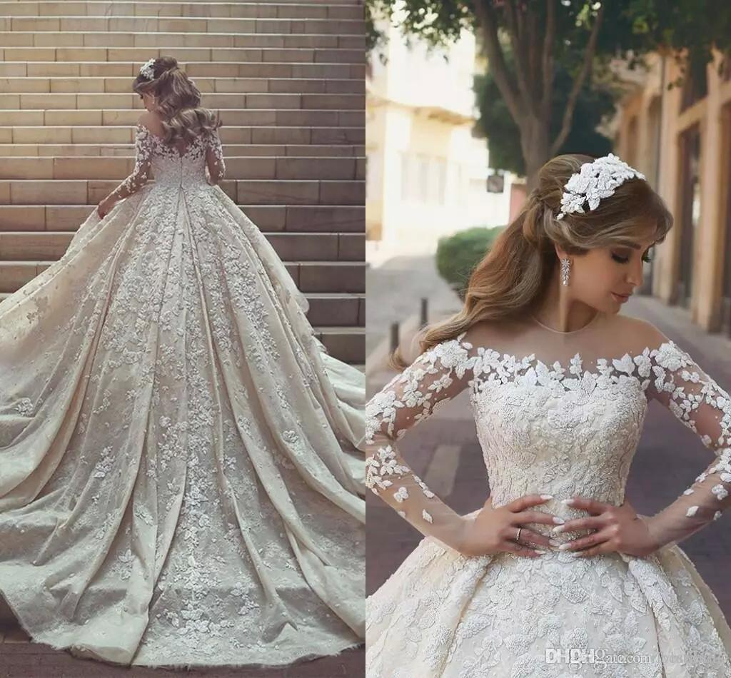 21 Gorgeous Wedding Dresses From 100 To 1 000: Discount 2018 New Gorgeous Arabic Lace Wedding Dresses