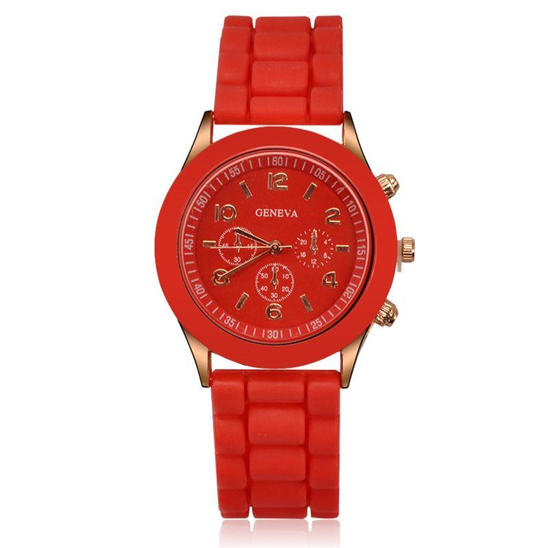 Precio promocional Ginebra Relojes de silicona Reloj de jalea de moda Envoltura de cuarzo Relojes de pulsera Casual Mujeres Chicas Reloj de dama
