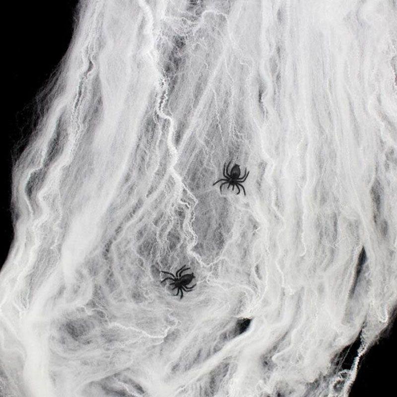Drôle Extensible En Plastique Fausse Araignée Web Trick Parti Décoration Maison Hantée Scène Props Halloween Décor ZA1877