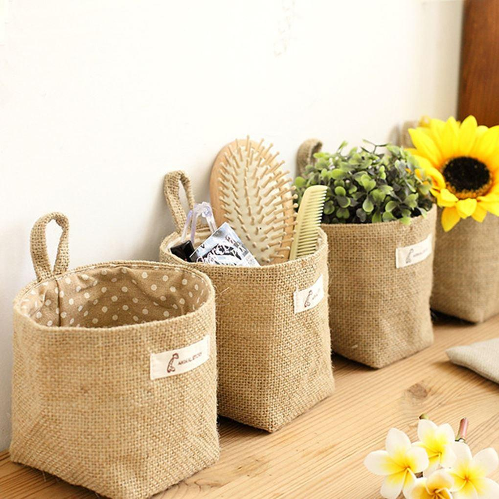 Super Cute Living Room Storage Sack Cloth Bags Hanging Grocery Cloth ...