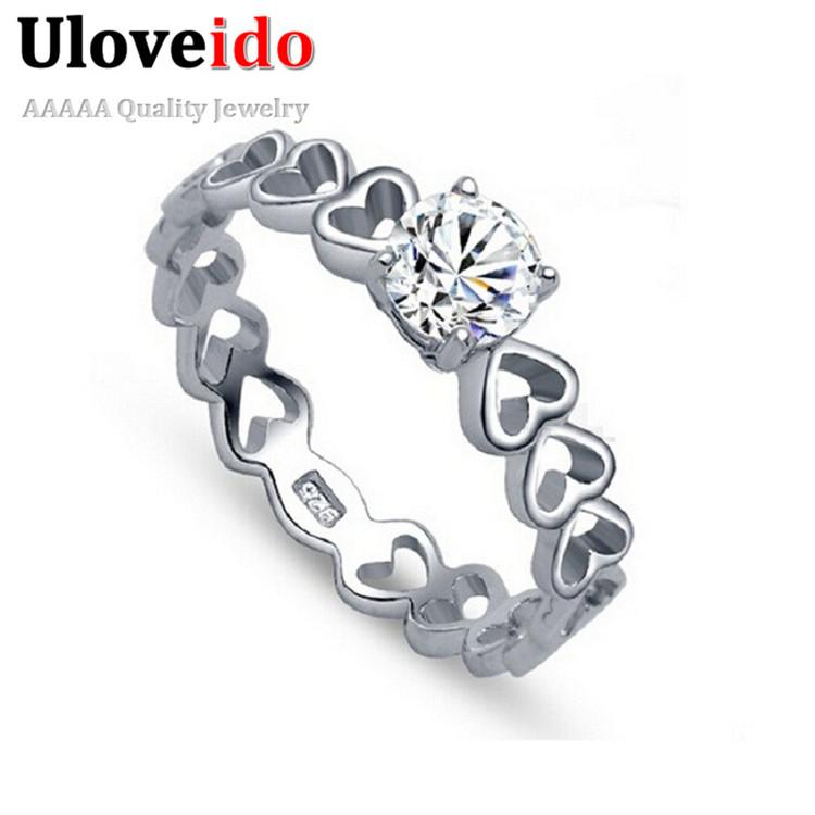plated ring zirconia engagement wedding products women grande diamond silver cubic