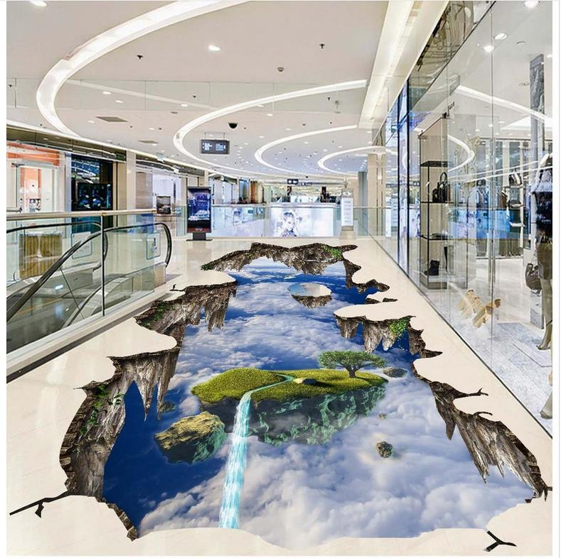 Wholesale 3d Extend Space Sky 3d Floor Stickers Custom