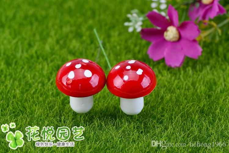 Simulazione Mini Mushroom Resin Craft Artificiale Micro Landscape Bonsai Artigianato Fairy Garden Miniature Gnome Moss Terrarium Decor New 0 01czA