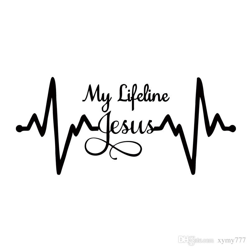 See Wheels On Your Car Before You Buy >> 2019 For My Lifeline Jesus Decal Sticker Christian God ...