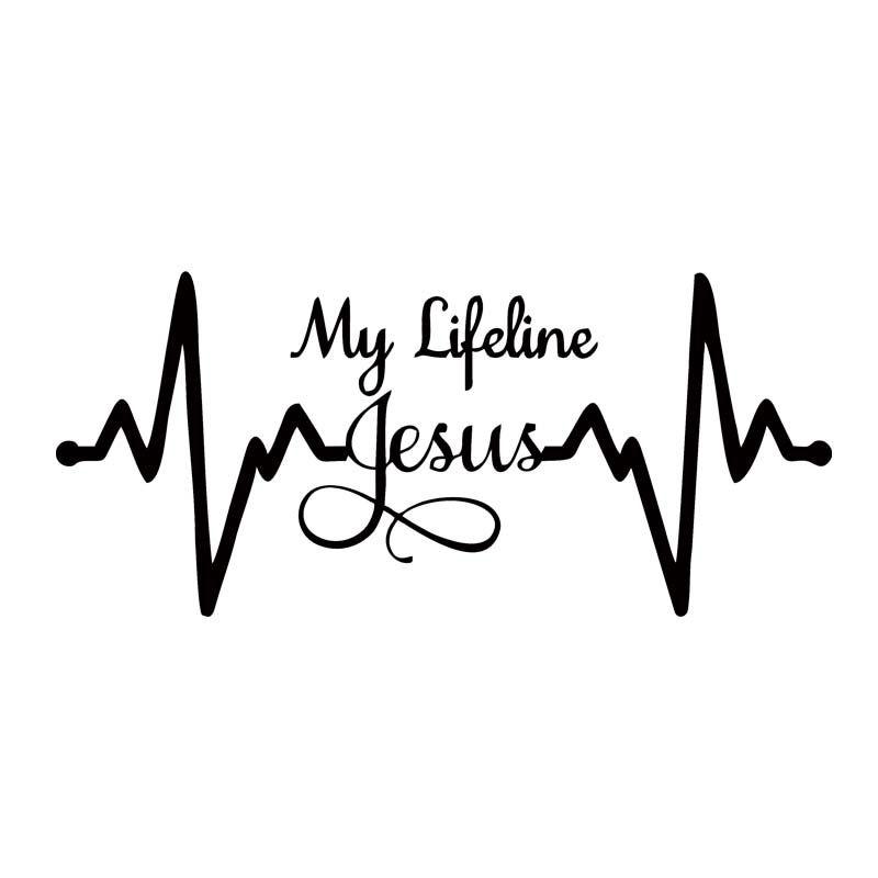 For My Lifeline Jesus Decal Sticker Christian God Religious Cute - Car window decal stickers online
