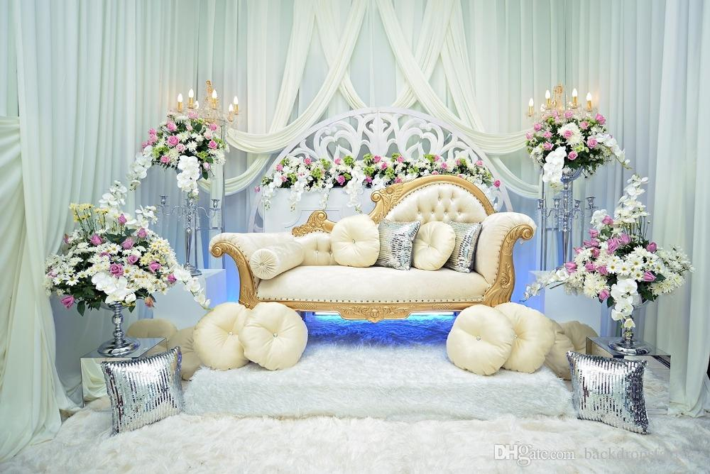 Indoor White Curtain Wedding Photography Backdrops Vinyl Soft Wool Blanket Baroque Sofa Studio Prop Flowers Princess Room Backdrop