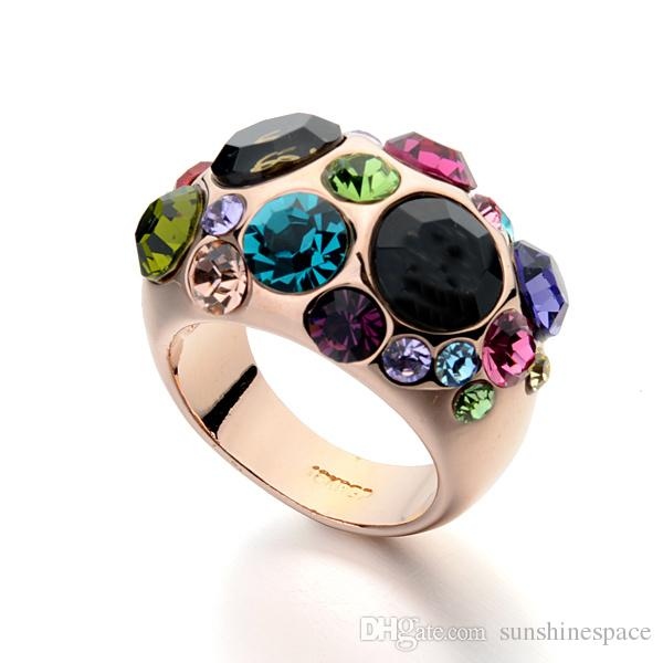 2017 Top Qualität Klassische Berühmte Marke 18 Karat Rose Gold Überzog Frauen Ring Modeschmuck Großhandel