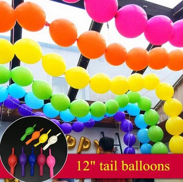 Link-O-Loon Qualatex Balloons Birthday Christmas Wedding Balloon DIY Linking Garland Arch Party Decorations 12'' 10'' 6'' shop decor