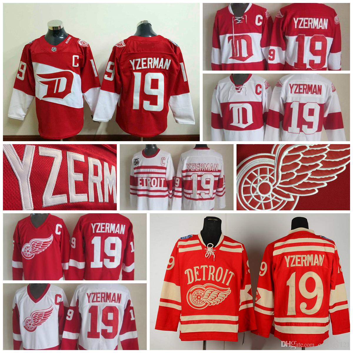 ... Mens 2017 Throwback Detroit Red Wings Jerseys 19 Steve Yzerman Jerseys  Home Red Vintage Winter Classic Red ... 42b479822