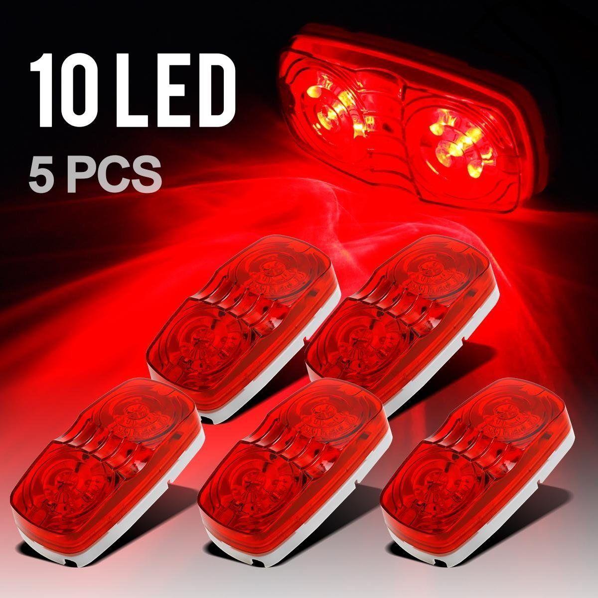 Trailer Marker LED Light Bullseye doppio 10 diodi Clearance Light Red