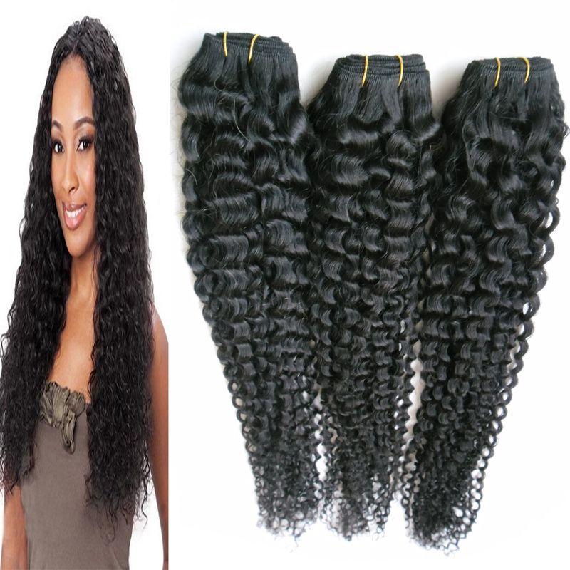 Siyah brezilyalı sapıkça kıvırcık bakire saç insan saçı örgü 300g tissage kinky kıvırcık işlenmemiş bakire brezilyalı saç uzantıları demetleri 3 ADET