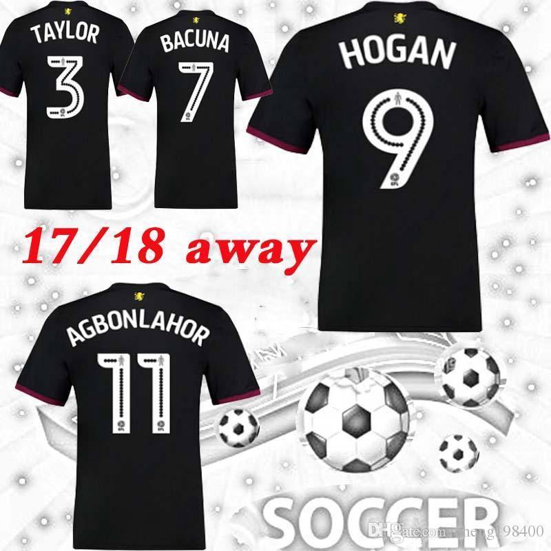 f3a40bcab ... 17 18 Soccer Jersey Aston Villa Away 26 Terry Hogan Lansbury Hourihane  Adomah Maillot 2017 2018 2015-16 ...