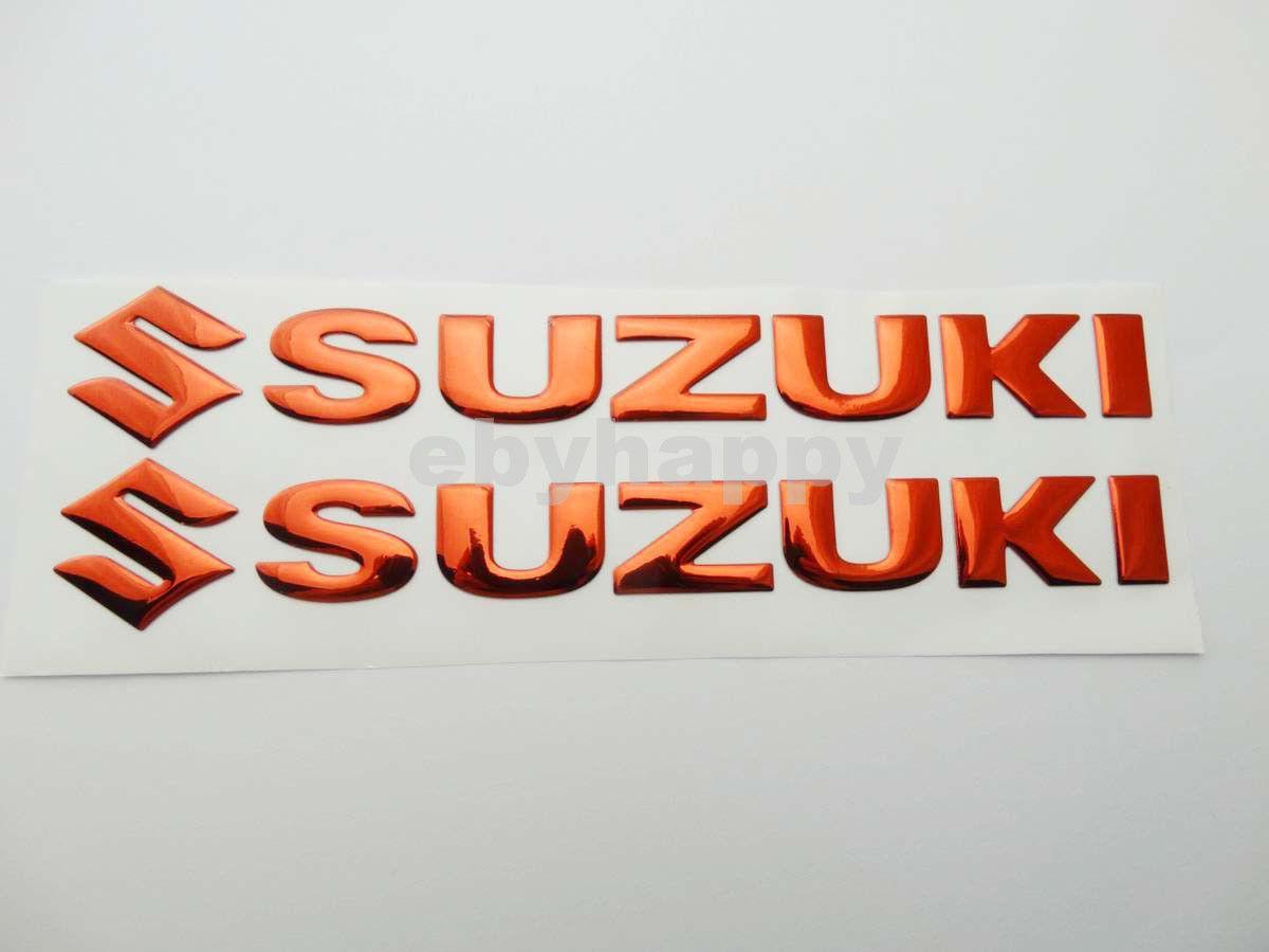 145 Cm Rot Motorrad 3d Gel Gummi Aufkleber Aufkleber Verkleidung Körper Kraftstofftank Abzeichen Emblem Logo Racing Bike Für Suzuki