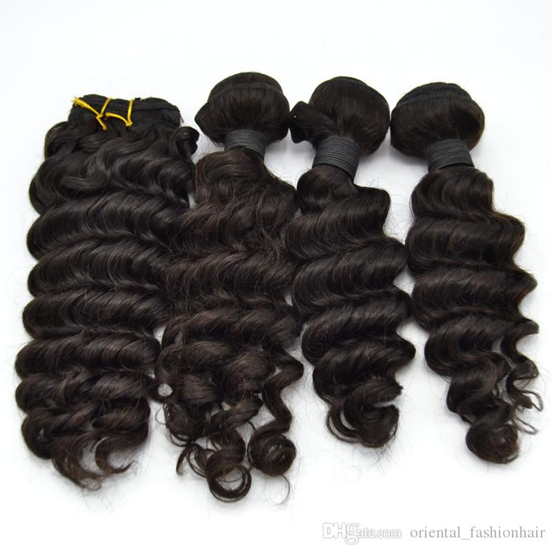 Big Sale For New Store Human Hair Weaves Natural Color Deep Wave
