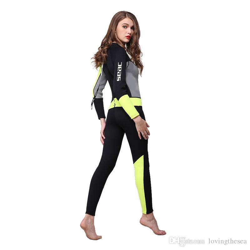 dfd9ba9790 Neoprene 3mm Scuba Dive Suit Wetsuit Women Spearfishing Surfing Diving  Swimming Equipment Spear Fishing Jumpsuit Accessories 3MM Wetsuit Women s  Wetsuit ...