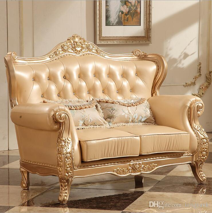 Fine New Arrival Hot Selling High Quality European Antique Living Room Sofa Furniture Genuine Leather Set Pfy10089 Andrewgaddart Wooden Chair Designs For Living Room Andrewgaddartcom