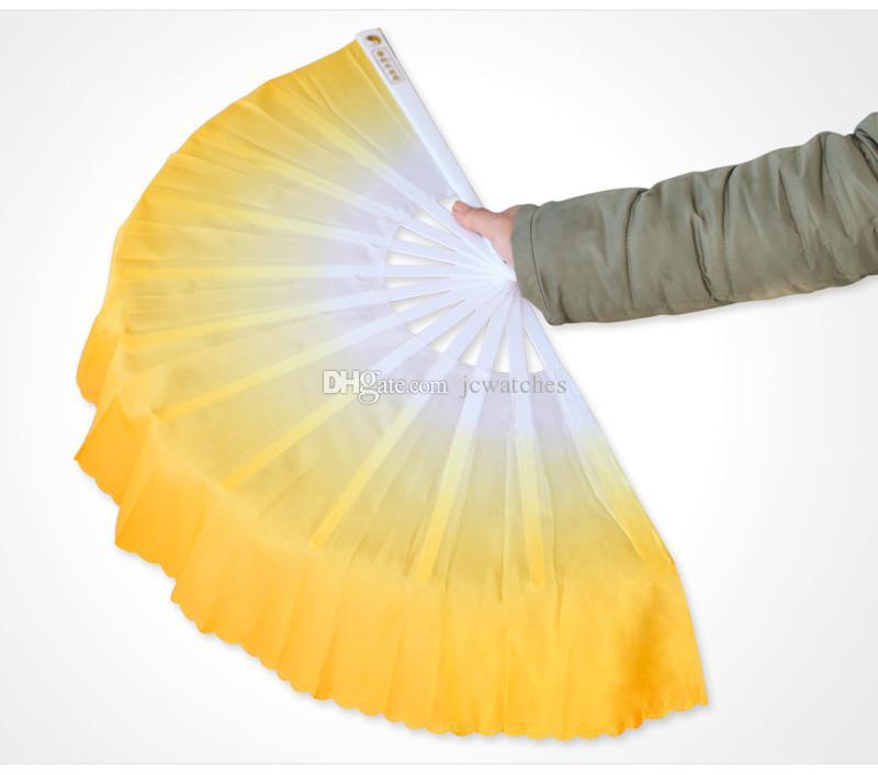 Fan della mano di seta cinese Danza del ventre breve Fan Fan dello spettacolo sul palco Puntelli party