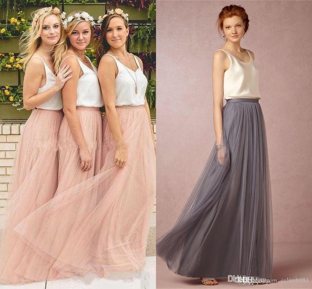 Long tulle skirt bridesmaid dress women long skirt tutu for How to make a long tulle skirt for wedding dress