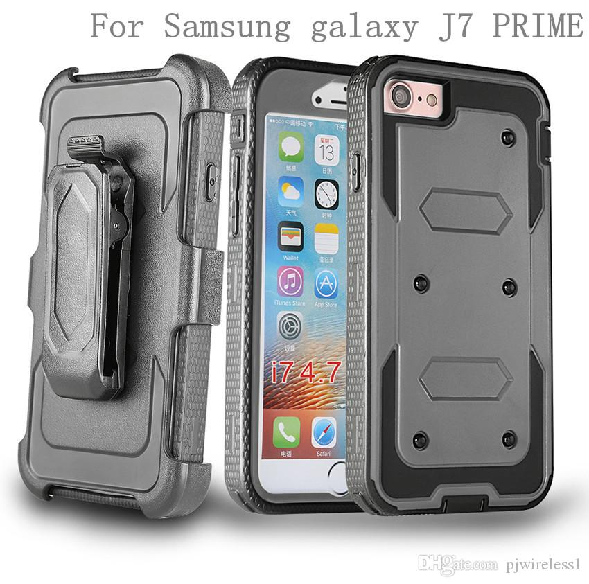 For Samsung galaxy ON5 G550 J7 PRIME ON7 2016 J5 PRIME ON5 2016 Hybrid Armor phone Case Holster Combo Shockproof cover Belt clip