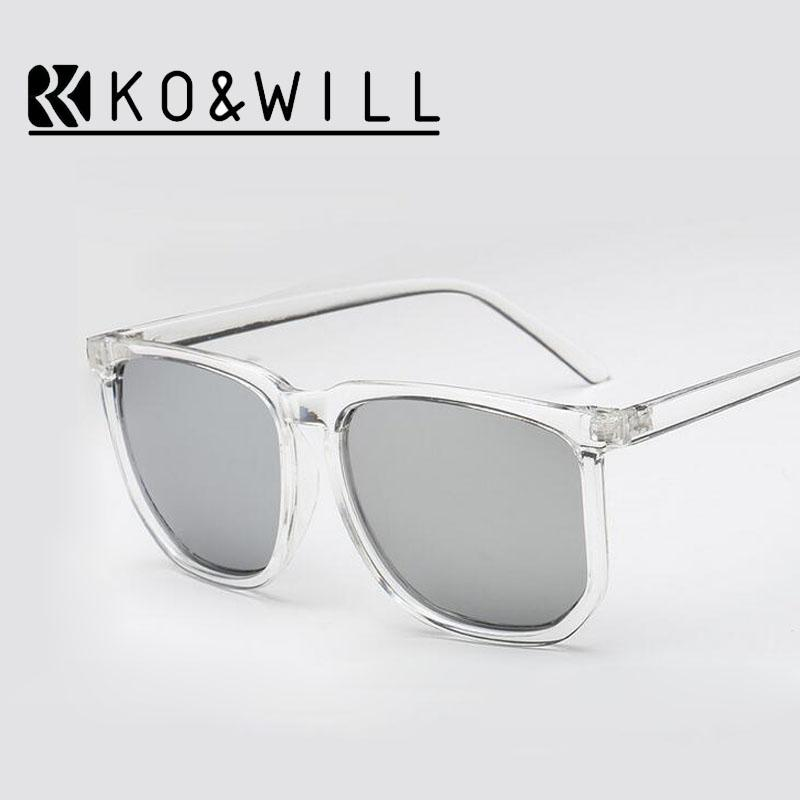 84c8b409 Wholesale-KOWILL Steampunk Square Men Sunglasses Transparent Frame Coating  Sun Glasses Women Brand Designer Gafas Oculos De Sol 1004