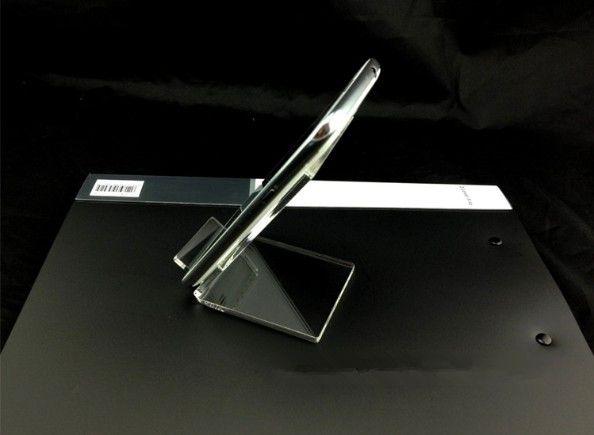 Acrílico celular telefone celular stand de prateleira de montagem titular para 6 polegadas iphone samsung htc telefone a bom preço livre DHL