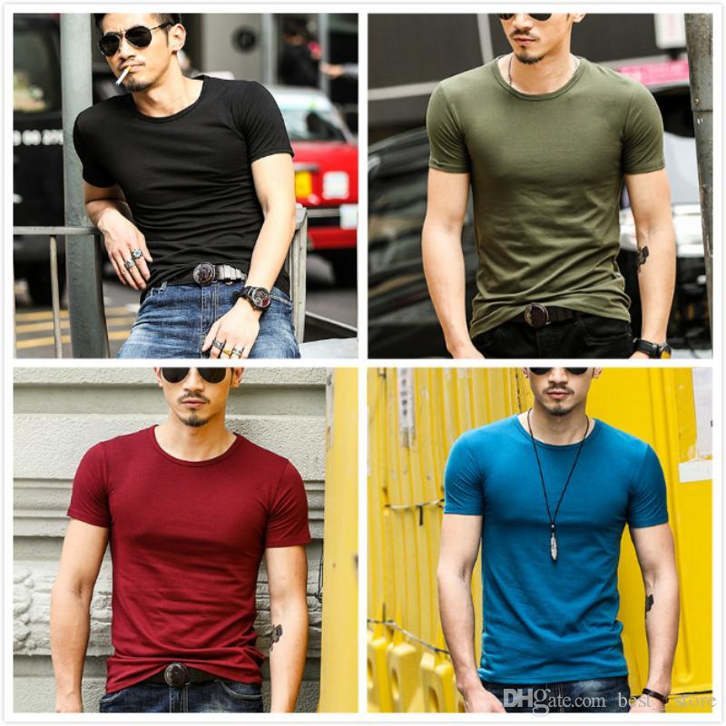 M Xxxl 2017 Mens T Shirts For Men Clothes Wholesale Cotton Pure