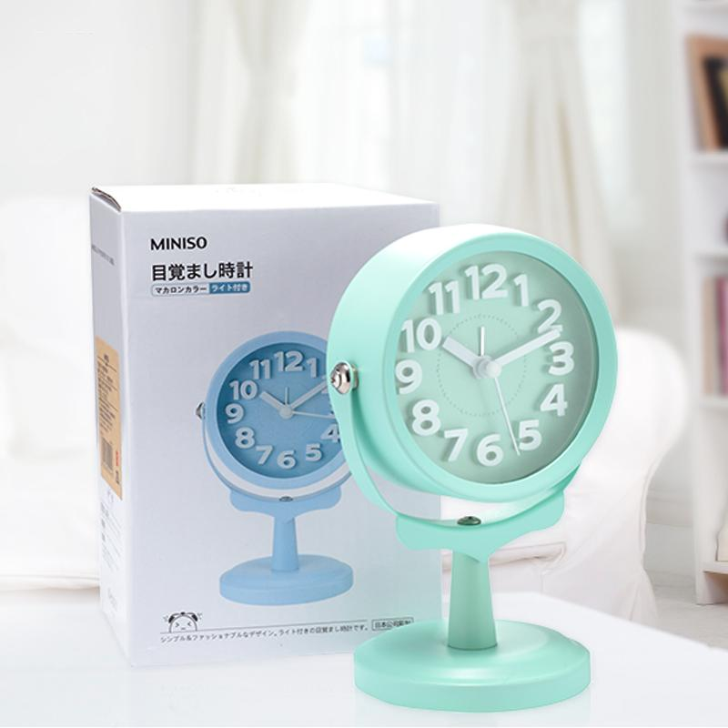 2017 Wholesale Miniso Brand Quartz Alarm Desk Clock Round Function 3d Table  Clock Alarm Display Home Decoration Girl Gifts From Sophine12, $58.42    Dhgate.