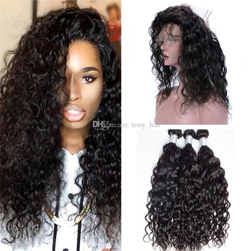 Wet and wavy 360 lace frontal closure with bundles virgin peruvian 30 pmusecretfo Gallery