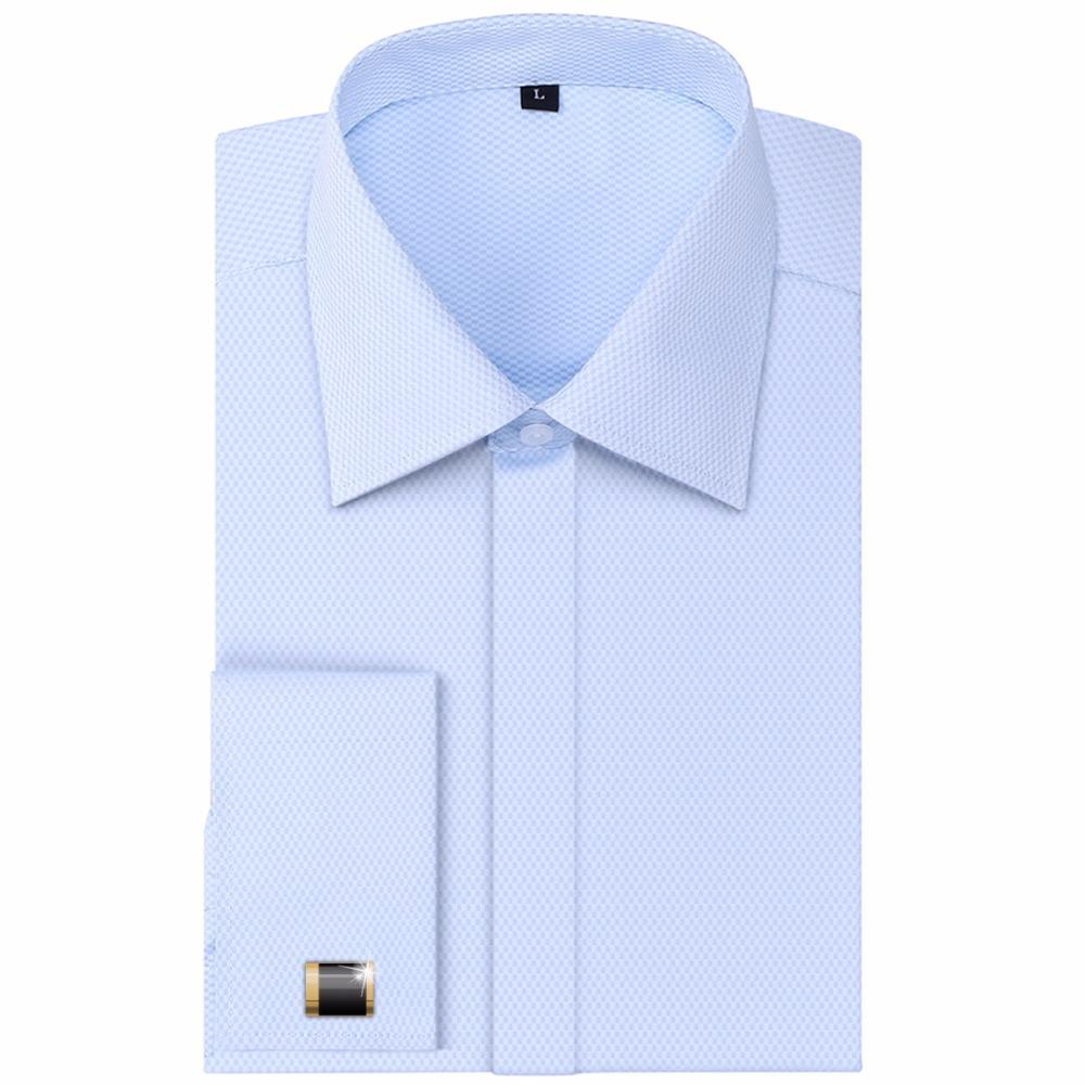 2019 Wholesale High Quality Men French Cufflinks Casual Dress Shirts