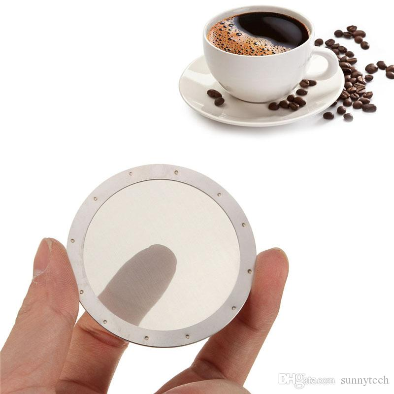 Твердая нержавеющая сталь многоразовые сетки экрана фильтр для кофе фильтр для aeropress кофе чайник фильтр многоразовый ZA2382