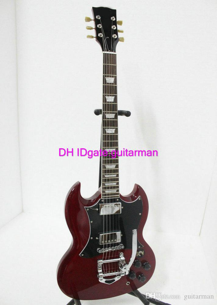 custom shop red 400 sg with tremolo electric guitar china guitar factory acoustic guitar best. Black Bedroom Furniture Sets. Home Design Ideas